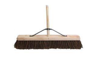 Faithfull Bassine (Stiff) Broom Head 600mm (24in) w Handle 1.2m (48in)