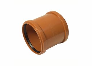 Floplast D105 Underground Double Socket Coupling 110mm