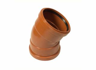 Floplast D564 30 Deg Double Socket Bend 110mm