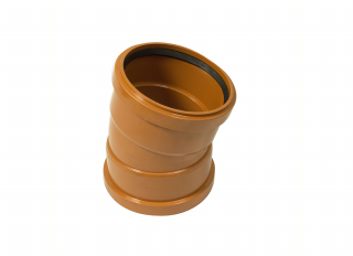 Floplast D567 15 Deg Double Socket Bend 110mm