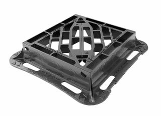 D400 Hngd Gully Grating D/Tri 425x425x100 Ductile k/m DGHT0D4/4242/KHA