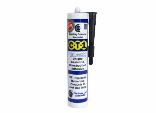 C-Tec CT1 Construction Sealant Adhesive Black 290ml