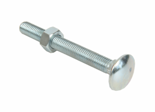 Bolts & Nuts Cup Sq Hex BZP M8x40mm