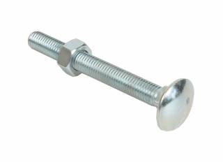 Bolts & Nuts Cup Sq Hex BZP M8x65mm