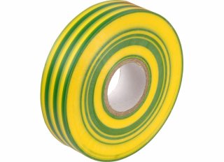 PVC Insulating Tape Coil Green/Yellow 19mmx33m JG004GY