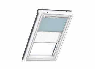 VELUX DFD UK08 4555S Duo, Pale blue / white