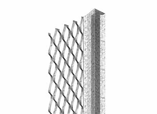 Expamet Galv Plaster Stop Bead (60mm Wing) 13mmx2.4m
