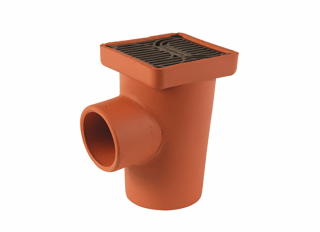 Hepworth SG2/1 HouseDrain Square Gulley with Grid 150mm