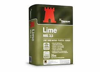 Hanson Natural Hydraulic Lime NHL 3.5 White 25kg Bag
