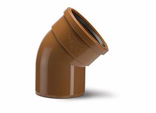 Polypipe UG404 Bend Single Socket 45 Deg 110mm