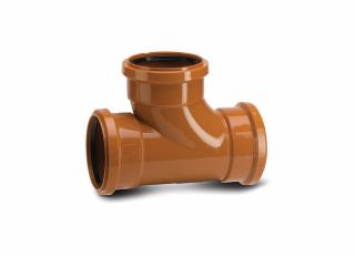 Polypipe UG423 Equal Junction Ttriple Socket 87.5 Deg 110mm