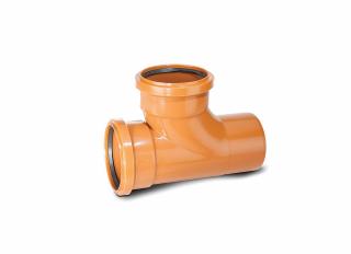 Polypipe UG424 Equal Junction Double Socket 87.5 Deg 110mm