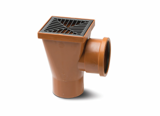 Polypipe UG414 Square Hopper with Grid 110mm