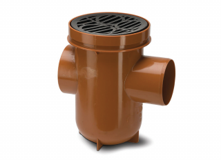 Polypipe UG427 Back Inlet Bottle Gully with Grid 110mm