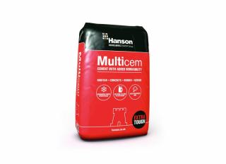 Hanson Castle Multicem Cement in Plastic Bag 25Kg