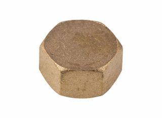 Brass Blanking Cap 1/2in