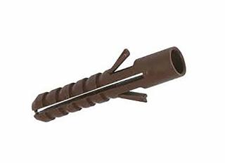 Fischer Plastic Wallplugs Brown (Pack of 300)