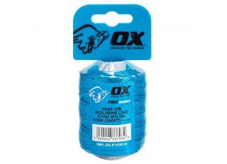 Ox Pro Cyan Nylon Brick Line 105m (350ft)