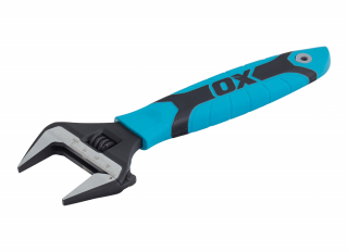 Ox Pro Adjustable Wrench Extra Wide Jaw 200mm (8in)