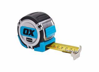 Ox Pro Heavy Duty Tape Measure Metric & Imperial 5m