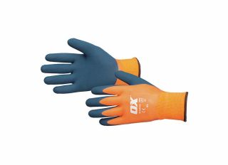 Ox Waterproof Thermal Latex Gloves Size 9 Large