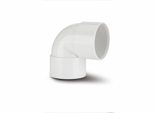 Polypipe WS15W 90 DegKnuckle Bend White 32mm