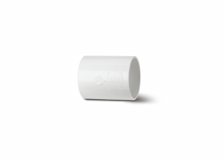 Polypipe WS58W Waste Straight Coupling White 50mm