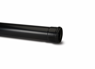 Polypipe SP430B Single Socket Pipe Black 110mmx3m