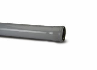 Polypipe SP430G Single Socket Pipe Grey 110mmx3m