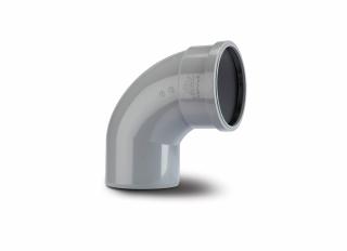 Polypipe SB409G 92.5 Deg Single Socket Bend Grey 110mm