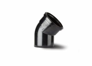 Polypipe SB412B 45 Deg Single Socket Bend Black 110mm
