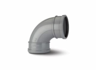 Polypipe SB417G Soil 92.5 Deg Double Socket Bend Grey 110mm